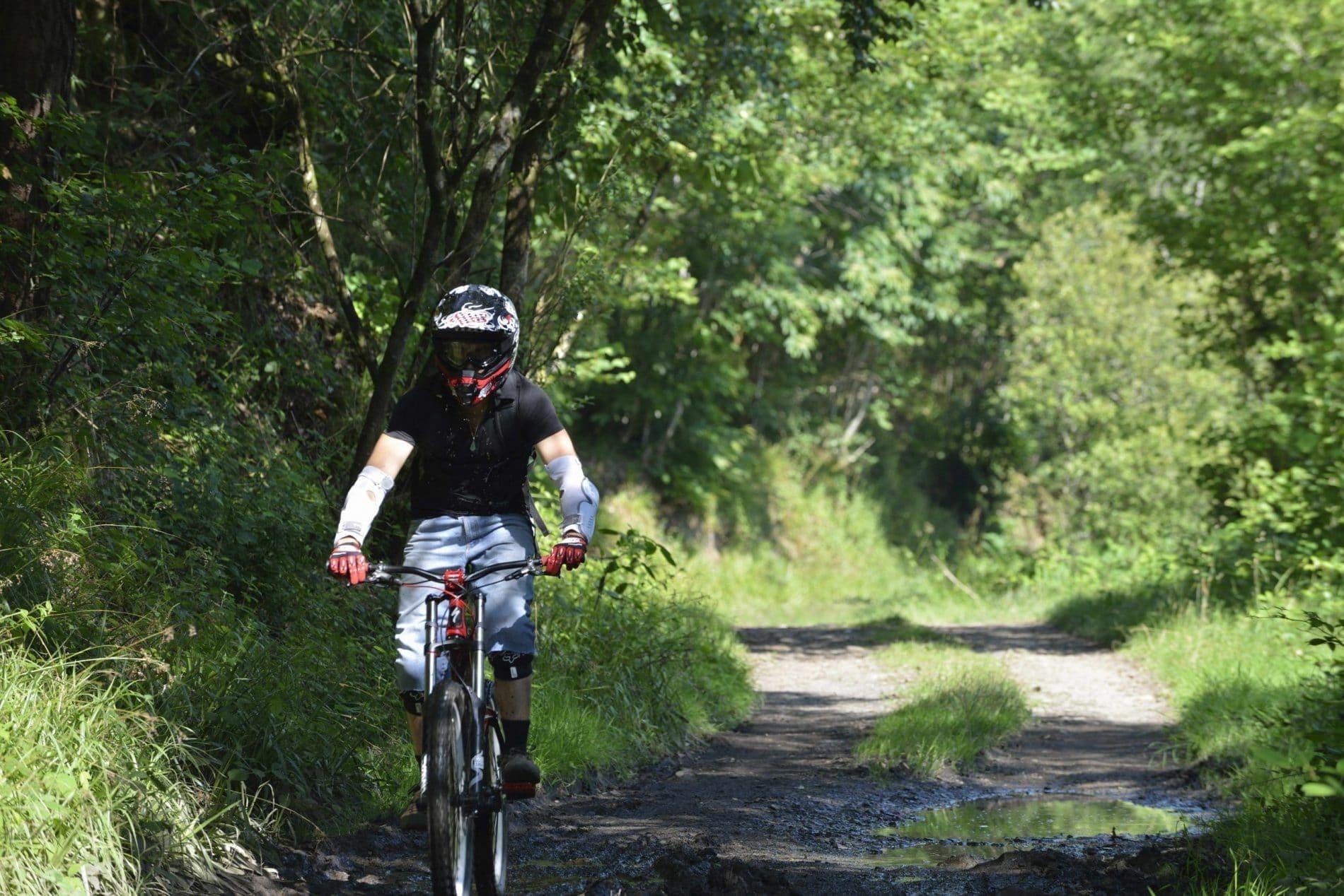 VTT en forêt de Mervent
